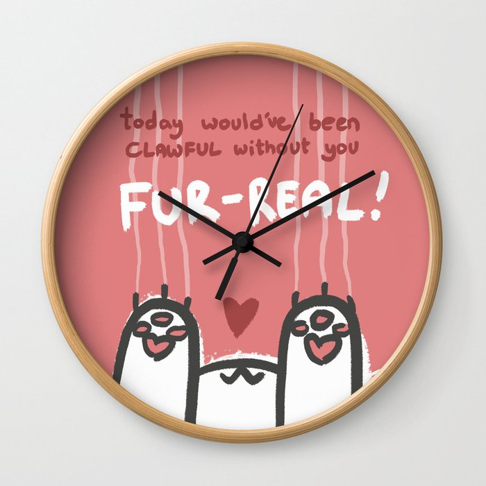 Clawful Without You Wall Clock