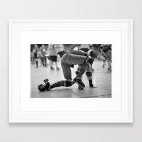 roller derby Framed Art Prints featuring Roller Derby  by Ann Yoo