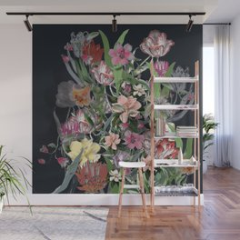 Painted Flowers Wall Mural