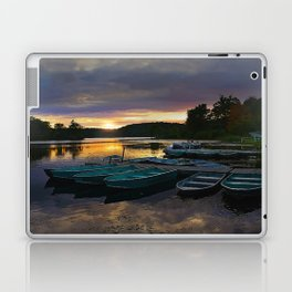 Stunning Lake Front Marina Sunset Laptop & iPad Skin