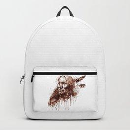 Native American Portrait Sepia Tones Backpack