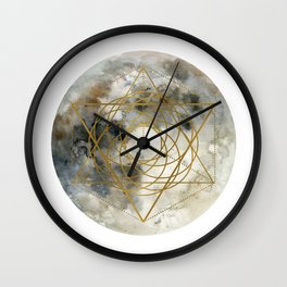 Geometric Moon #1 Wall Clock