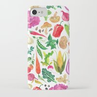 oana befort iPhone & iPod Cases featuring VEGGIES by Oana Befort