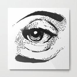 Palindrome Eye Metal Print