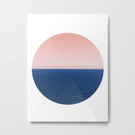 Endless Ocean Circle Metal Print