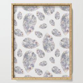 Diamond Birthstone Watercolor Illustration Serving Tray