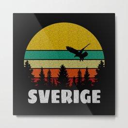 Sverige Sweden Gift Metal Print