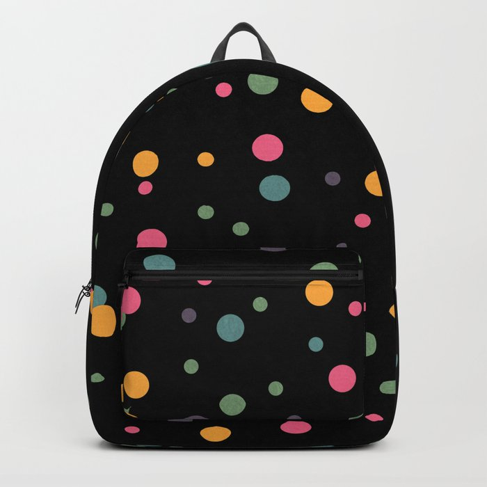 Happy Rounds on Black Backpack