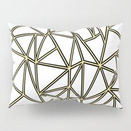 Ab Blocks White Gold Pillow Sham