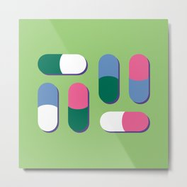 Colorful pills Metal Print