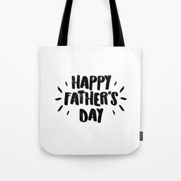 Happy Father's Day - Fun Bold Text Tote Bag