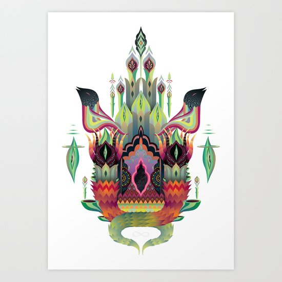 Botanical castle Art Print