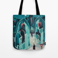ice Tote Bags featuring Ice age by Reno Nogaj