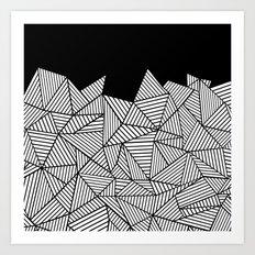 Abstraction Mountain Art Print