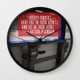 Hockey Passion Wall Clock