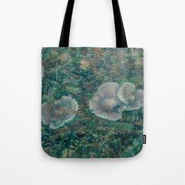 Blurry Blue Mushrooms Tote Bag