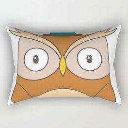 Cartoon Abstract Owl Rectangular Pillow