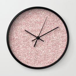 Abstract trendy rose gold elegant glitter Wall Clock