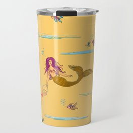 Fashionable mermaid - yellow-orange Travel Mug