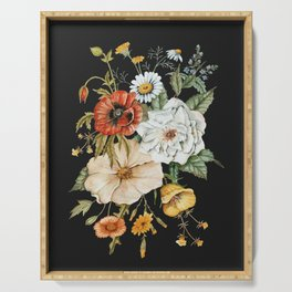 Wildflower Bouquet on Charcoal Serving Tray