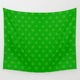 Green Gamer Pattern Wall Tapestry