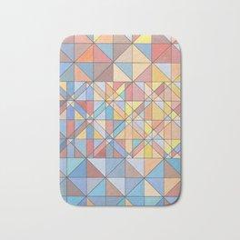 Triangle Pattern no.16 Pastels Bath Mat