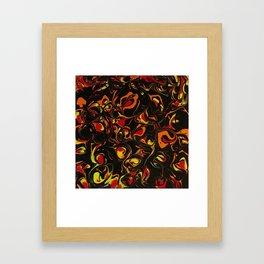 Fireball Swirls Fluid Art Abstract Bloom Painting Framed Art Print
