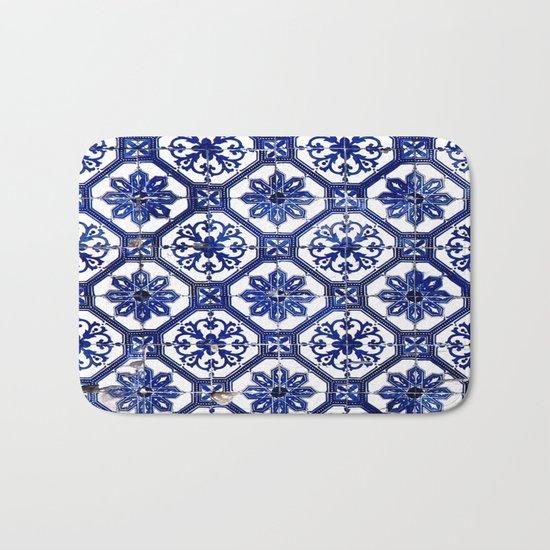 Portuguese Tile Bath Mat