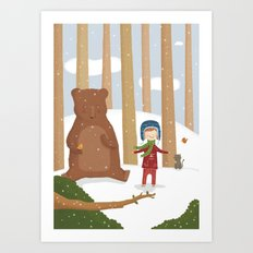 A  BIRD  IN LOVE  Art Print