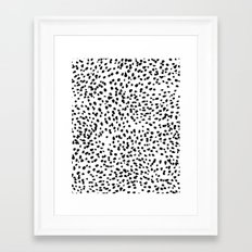 Nadia - Black and White, Animal Print, Dalmatian Spot, Spots, Dots, BW Framed Art Print
