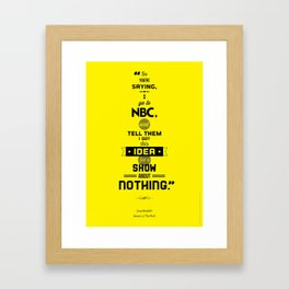 Seinfeld Posters - The Pitch Framed Art Print