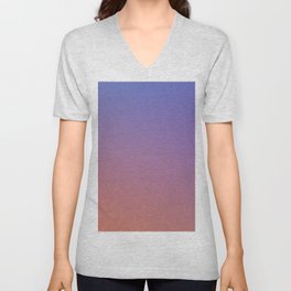 OXIDISED METAL - Minimal Plain Soft Mood Color Blend Prints Unisex V-Neck