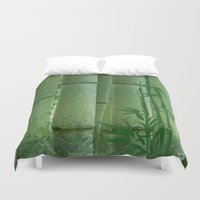 bamboo Duvet Covers featuring Bamboo by Anne Seltmann