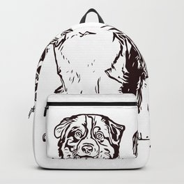 Australian Shepherd working dog for dog lovers Backpack