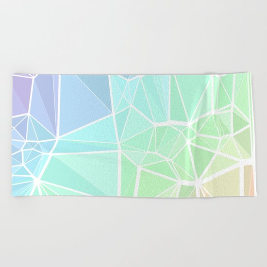 Rainbow Triangles Beach Towel