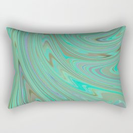 GREEN FANCY Rectangular Pillow