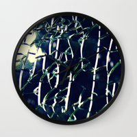 cracked Wall Clocks featuring Cracked by Tea Tree // P H O T O