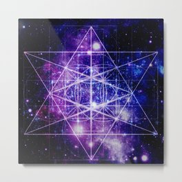 Flower of Life : Sacred Geometry Metal Print