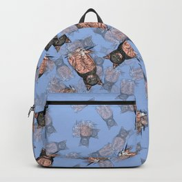 Periwinkle Pink Bat Cat Backpack