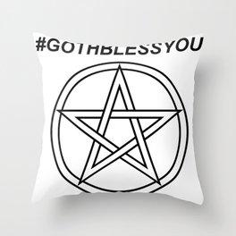 #GOTHBLESSYOU INVERSE Throw Pillow