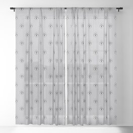 I caught my eye on you (Grey) Sheer Curtain