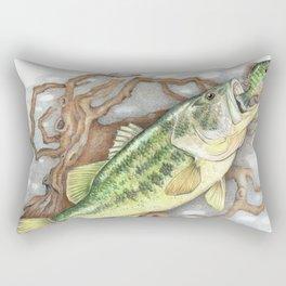 Bass and Pumpkin Seed Rectangular Pillow
