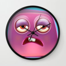 Glutton Jelly Monster  Wall Clock
