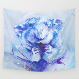 Blue rat Wall Tapestry