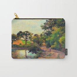 Bridge at Montfoucault by Camille Pissarro Carry-All Pouch