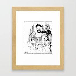 Catedral De Burgos con Farola Framed Art Print