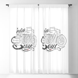 Indian Scout Bobber American Legend Motorcycle Blackout Curtain