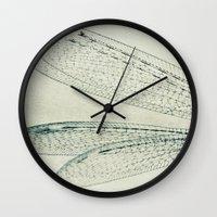 wings Wall Clocks featuring wings by Bonnie Jakobsen-Martin