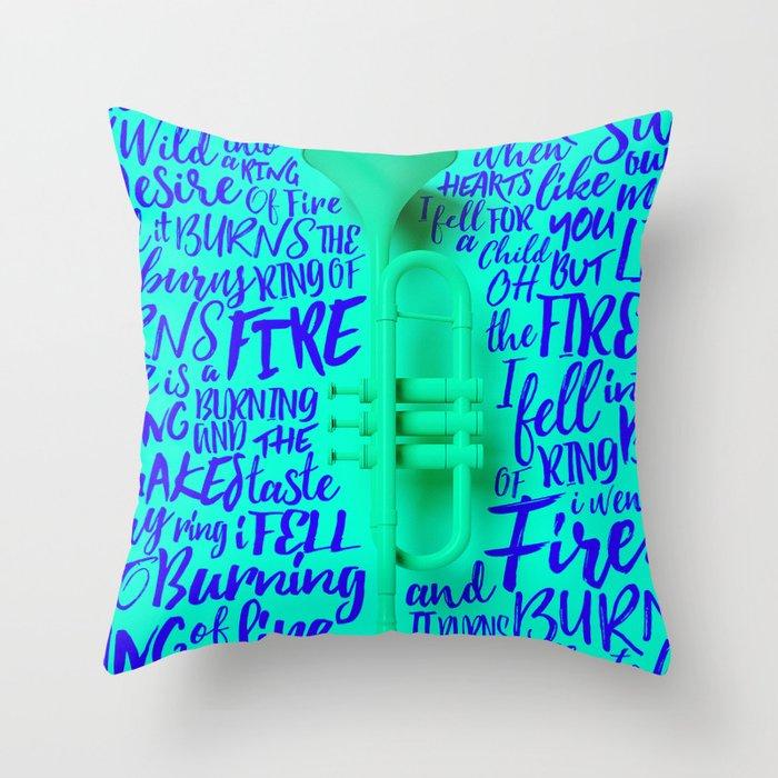 Lyrics & Type - Johnny Cash Throw Pillow