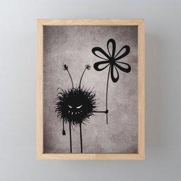Evil Flower Bug Framed Mini Art Print